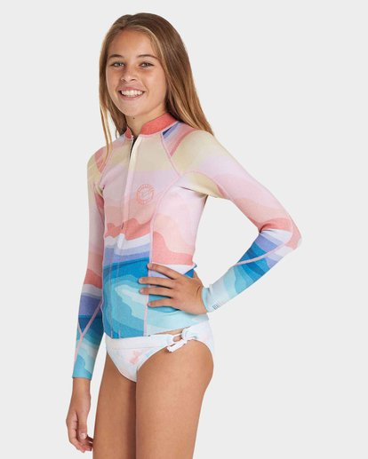 1 TEEN PEEKY LS 1MM JACKET Blue 5781120 Billabong