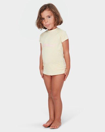 1 GIRLS SOLEIL STRIPE RASH GUARD SET Yellow 5782008 Billabong