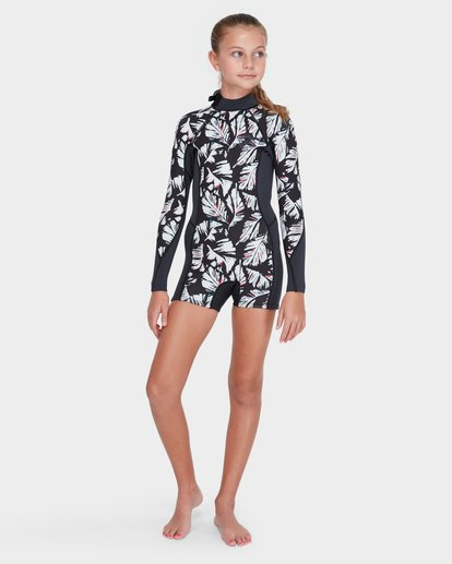 3 TEEN FEVER LONG SLEEVE SPRING SUIT Black 5782501 Billabong