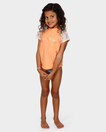 0 GIRLS TUTTI FRUITTI RASH GUARD Yellow 5791001 Billabong