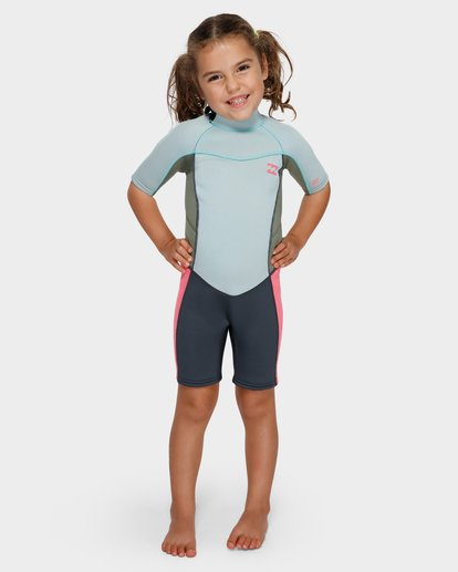 0 GIRLS 202 SYNERGY BACK ZIP SPRING SUIT Blue 5791401 Billabong