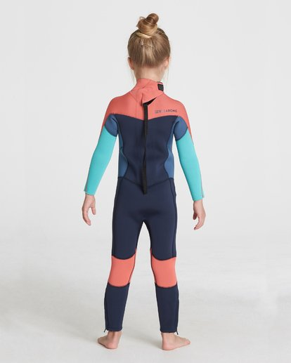 1 GIRLS 302 SYNERGY BACK ZIP FULLSUIT Grey 5795701 Billabong