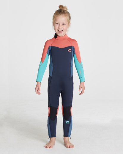 0 GIRLS 302 SYNERGY BACK ZIP FULLSUIT Grey 5795701 Billabong