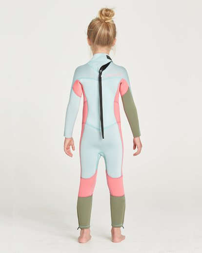 1 GIRLS 302 SYNERGY BACK ZIP FULLSUIT Blue 5795701 Billabong