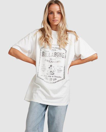 0 Hooked On Tropics Short Sleeve Tee White 6503027 Billabong