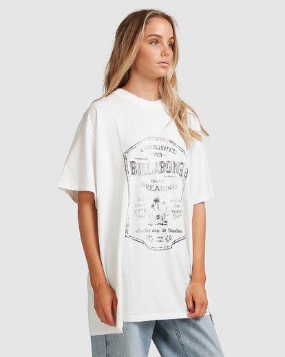 2 Hooked On Tropics Short Sleeve Tee White 6503027 Billabong