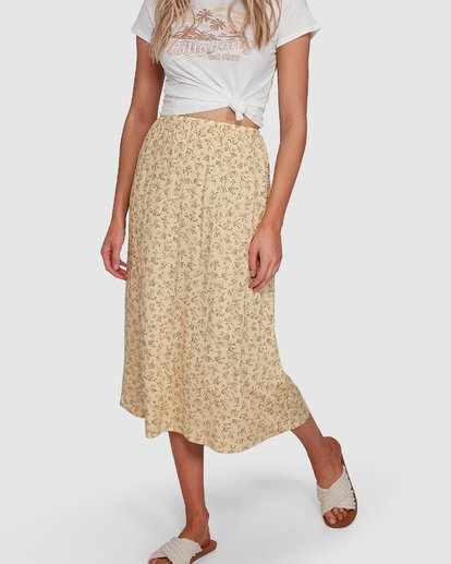 6 Just Be Here Skirt Yellow 6503317 Billabong