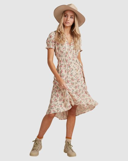 1 Day Dreamer Midi Dress Pink 6503461 Billabong