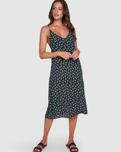 0 Bloom Midi Dress Black 6503463 Billabong