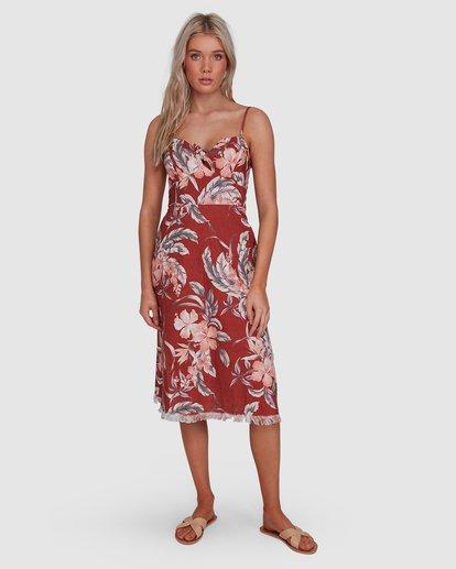 2 Dahlia Midi Dress Brown 6503464 Billabong