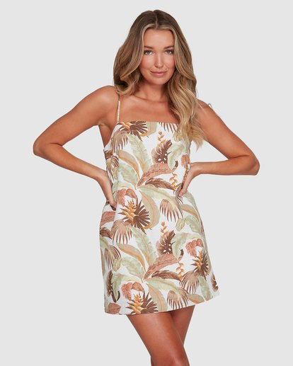 1 El Tropical Sunset Dress White 6503472 Billabong