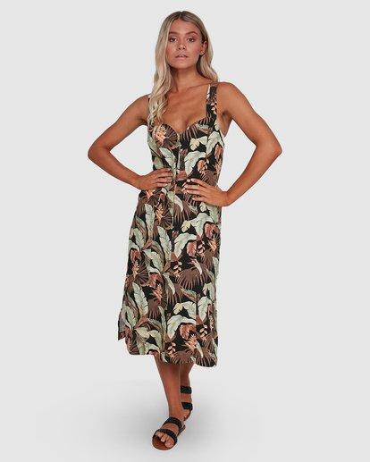 4 El Tropical Midi Dress Black 6503475 Billabong