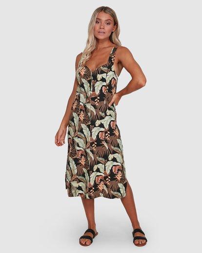 1 El Tropical Midi Dress Black 6503475 Billabong