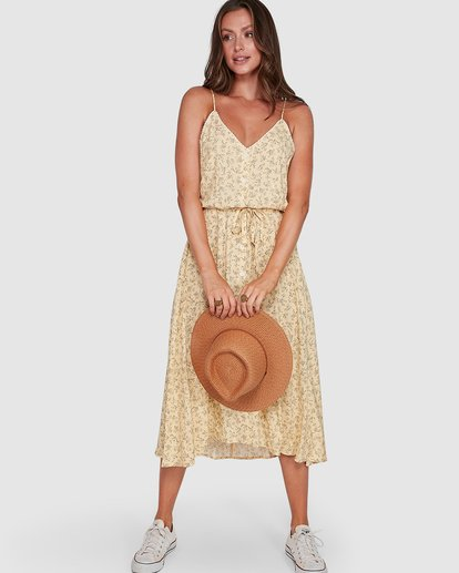 1 Just Be Here Dress Yellow 6503476 Billabong