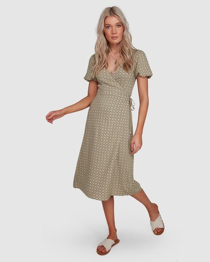 5 Jasmin Midi Wrap Dress Green 6503477 Billabong