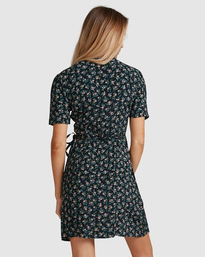 4 Bloom Wrap Dress Black 6503479 Billabong