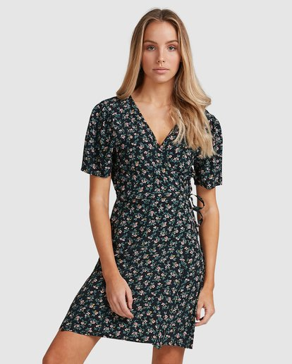 2 Bloom Wrap Dress Black 6503479 Billabong