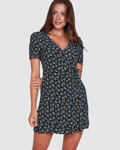 1 Bloom Wrap Dress Black 6503479 Billabong