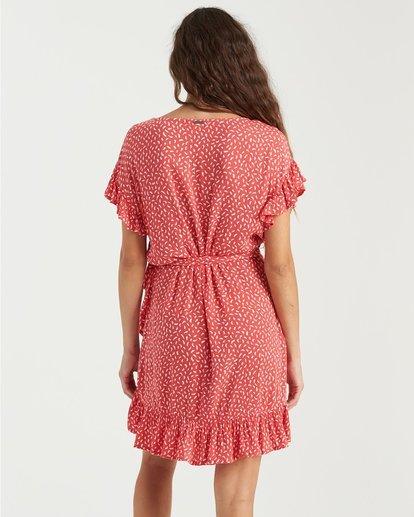 1 Wrap And Roll Dress Pink 6503490 Billabong
