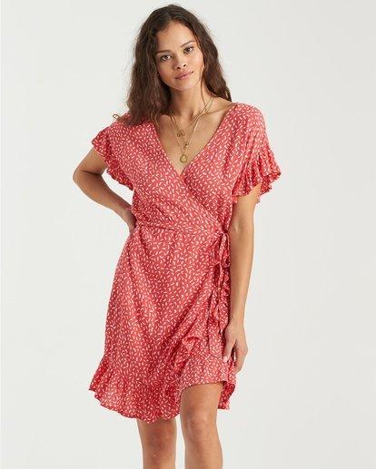 0 Wrap And Roll Dress Pink 6503490 Billabong