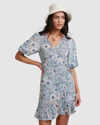 1 Dream Daze Wrap Dress Blue 6503493 Billabong