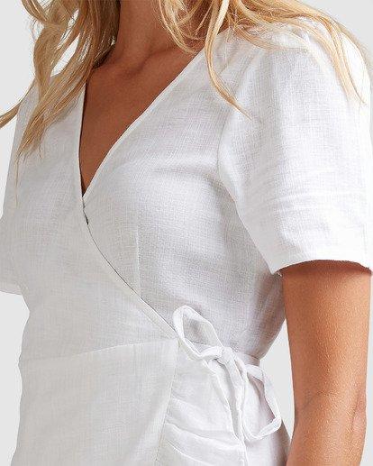 4 Crosshatch Wrap Dress White 6503494 Billabong