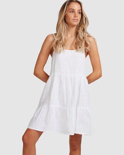 1 Bluebell Crosshatch Dress White 6503495 Billabong