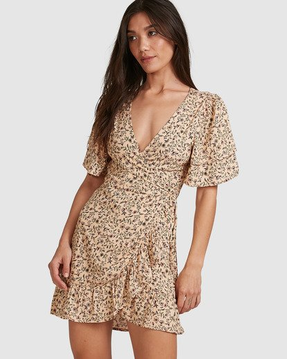 0 Charmer Wrap Dress Beige 6503497 Billabong