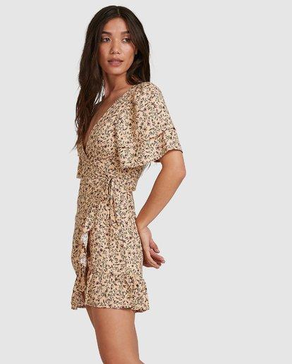 1 Charmer Wrap Dress Beige 6503497 Billabong