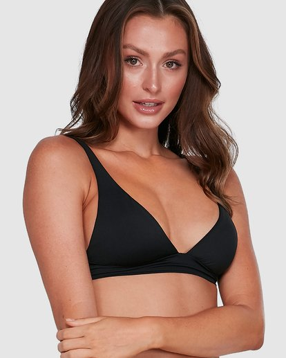 12 Sol Searcher Elongated Tri Bikini Top Black 6503704 Billabong