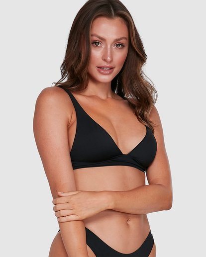 6 Sol Searcher Elongated Tri Bikini Top Black 6503704 Billabong