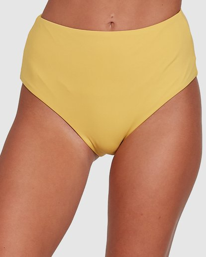 3 Sol Searcher Hi Retro Bikini Bottoms Yellow 6503714 Billabong
