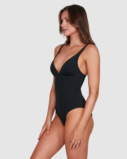 6 Sol Searcher Plunge Lowrider Onepice Black 6503718 Billabong