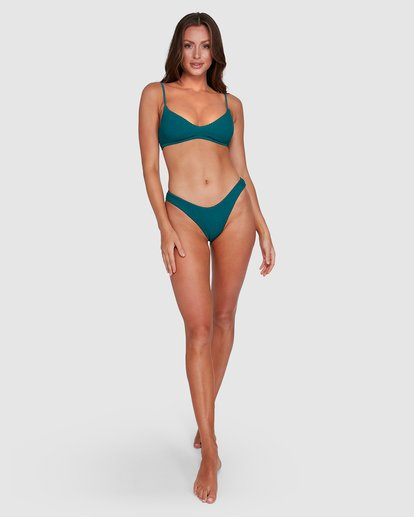 8 Summer High V Neck Bralette Bikini Top Green 6503738 Billabong