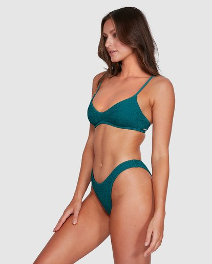 4 Summer High V Neck Bralette Bikini Top Green 6503738 Billabong