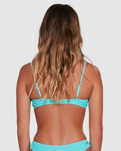 2 Summer High V Neck Bralette Bikini Top Blue 6503738 Billabong
