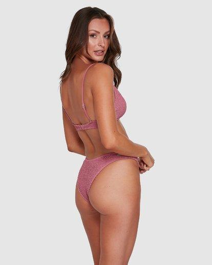 5 Summer High V Neck Bralette Bikini Top Pink 6503738 Billabong