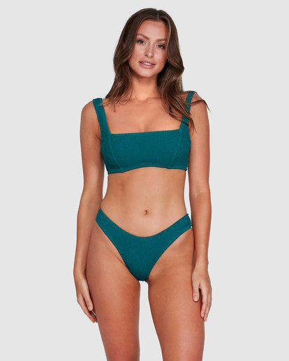 3 Summer High Square D/DD Bralette Bikini Top Green 6503740 Billabong