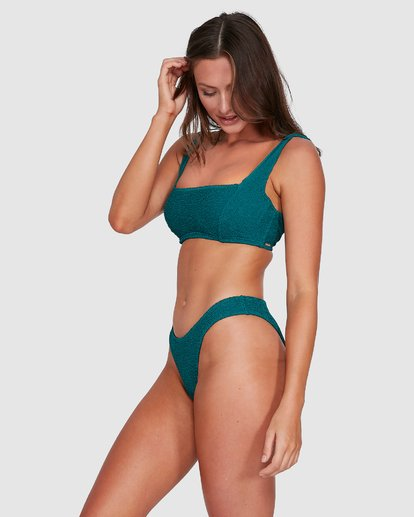 4 Summer High Square D/DD Bralette Bikini Top Green 6503740 Billabong