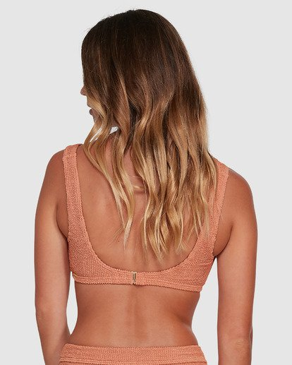 2 Summer High Square D/DD Bralette Bikini Top Beige 6503740 Billabong