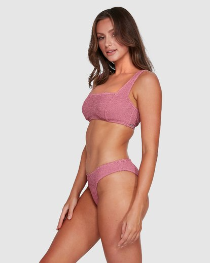 4 Summer High Square D/DD Bralette Bikini Top Pink 6503740 Billabong