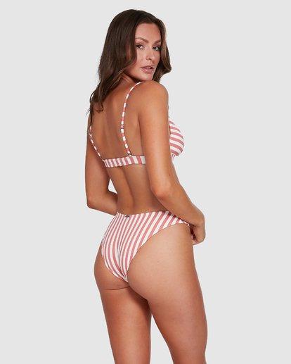 5 Cassy Stripe Clip Front Tri Bikini Top Pink 6503770 Billabong
