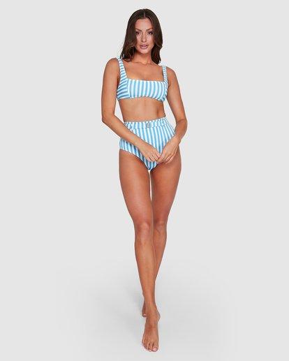 5 Cassy Stripe Square Bralette Bikini Top Blue 6503771 Billabong