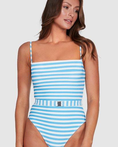 4 Cassy Stripe Belted One Piece Blue 6503772 Billabong