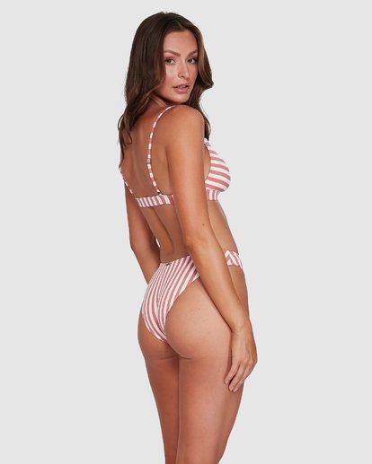 0 Cassy Stripe Bondi Bikini Bottoms Pink 6503773 Billabong