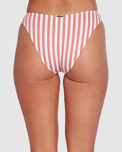 4 Cassy Stripe Bondi Bikini Bottoms Pink 6503773 Billabong