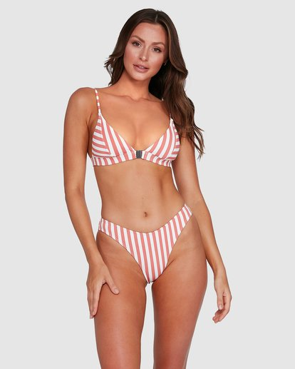 1 Cassy Stripe Bondi Bikini Bottoms Pink 6503773 Billabong