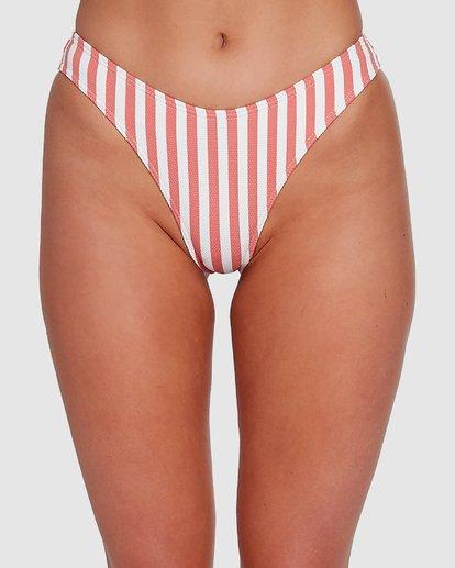 3 Cassy Stripe Bondi Bikini Bottoms Pink 6503773 Billabong