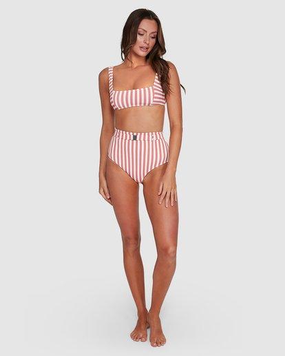 6 Cassy Stripe Hi Retro Bikini Bottoms Pink 6503774 Billabong