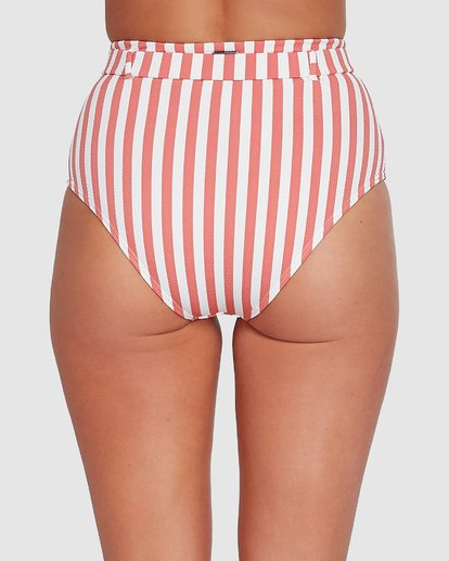 4 Cassy Stripe Hi Retro Bikini Bottoms Pink 6503774 Billabong